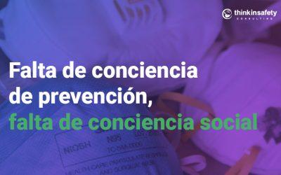 Falta de conciencia de prevención, falta de conciencia social